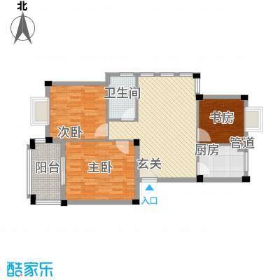 名仕紫金花园95.00㎡名仕紫金花园户型图J户型3室2厅1卫1厨户型3室2厅1卫1厨