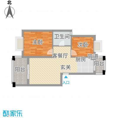 名仕紫金花园88.00㎡名仕紫金花园户型图K户型2室2厅1卫1厨户型2室2厅1卫1厨