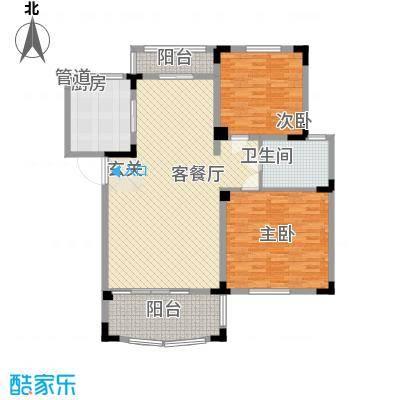 奇瑞龙湖湾户型图D1户型 2室2厅