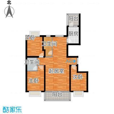 联邦・御景江山146.51㎡一期C4户型3室2卫1厨