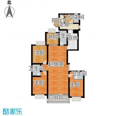 联邦・御景江山205.55㎡一期B3户型4室4卫1厨