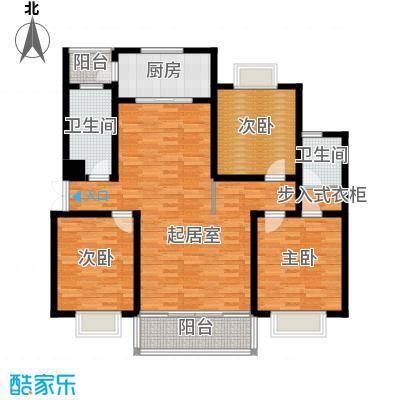 联邦・御景江山148.88㎡一期C3户型3室2卫1厨