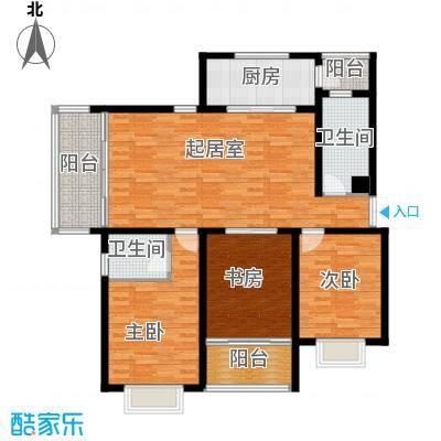 联邦・御景江山150.65㎡一期C2户型3室2卫1厨