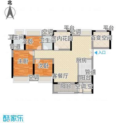 中信新城123.37㎡中信新城户型图5.6栋01户型图3室2厅2卫1厨户型3室2厅2卫1厨