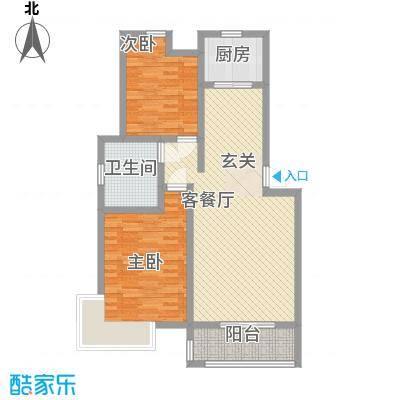 鲲鹏・岭秀城83.00㎡鲲鹏・岭秀城图片12室2厅1卫1厨83.00㎡户型2室2厅1卫1厨