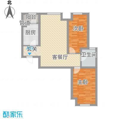 首尔甜城86.00㎡首尔甜城户型图B23_副本2室2厅1卫1厨户型2室2厅1卫1厨