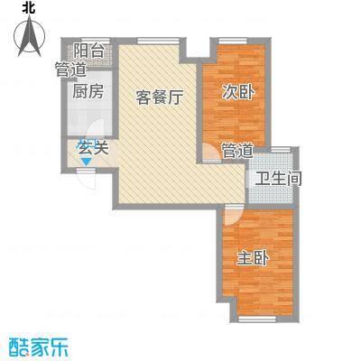 首尔甜城89.00㎡首尔甜城户型图B22_副本2室2厅1卫1厨户型2室2厅1卫1厨