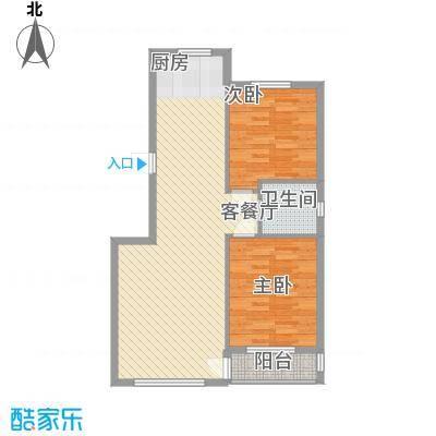 桃源山庄峰景户型图户型图 3室2厅1卫