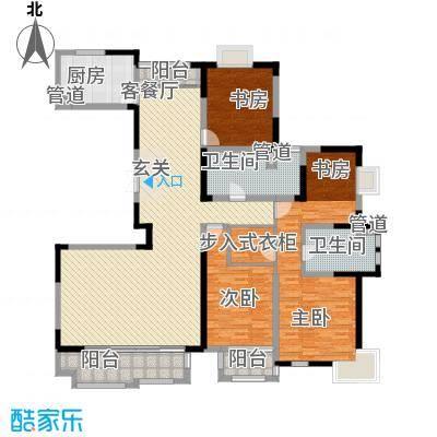 太阳都市花园户型图B户型 4室2厅2卫