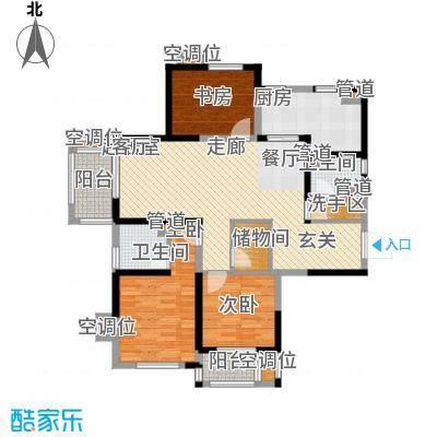 太阳都市花园户型图D1户型 3室2厅2卫