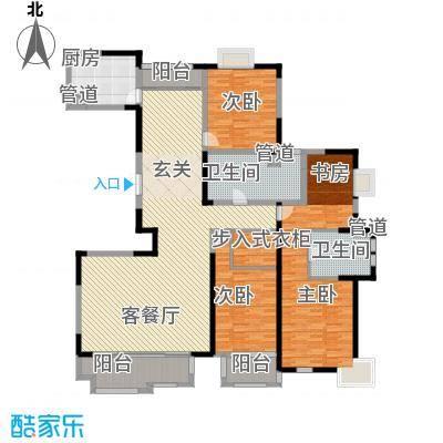 太阳都市花园户型图C户型 4室2厅2卫