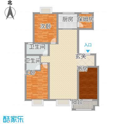 智雅茗苑8#C户型 4室2厅2卫1厨 141.40㎡