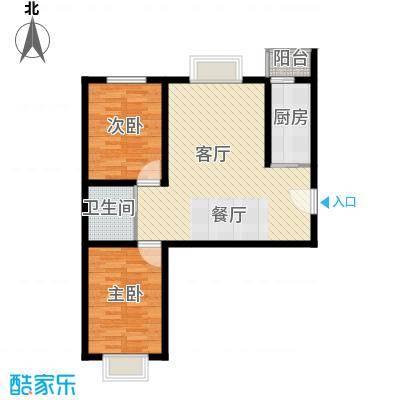 枫林逸景73.96㎡GA-户型2室1厅1卫1厨