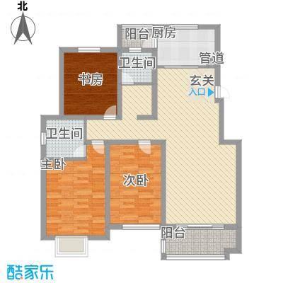东城名邸123.00㎡东城名邸C3室2厅2卫1厨123.00㎡户型3室2厅2卫1厨