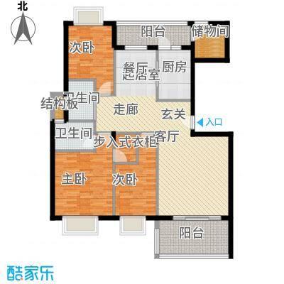 名人港湾139.61㎡名人港湾户型图3#A3室2厅2卫1厨139.61㎡户型3室2厅2卫1厨