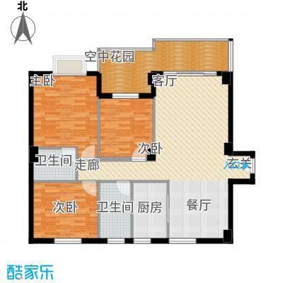 聚福雅居116.84㎡聚福雅居AB栋03、04单元户型3室2厅2卫1厨116.84㎡户型3室2厅2卫1厨
