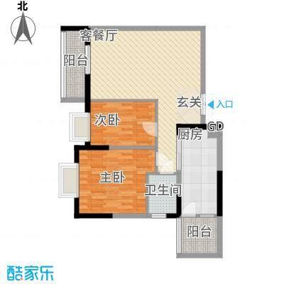 东江豪苑东江豪苑一座户型2室2厅1卫户型10室