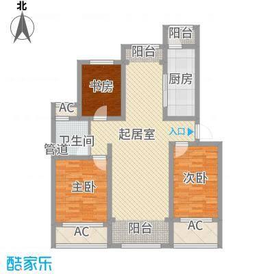 绿地世纪城绿地世纪城E2-124㎡三室两厅一卫户型10室