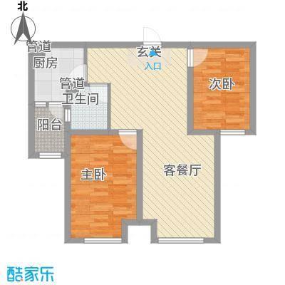 首尔甜城88.00㎡首尔甜城户型图B25_副本2室2厅1卫1厨户型2室2厅1卫1厨