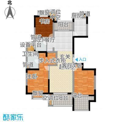 太阳都市花园户型图D5户型 3室2厅2卫