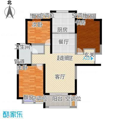 太阳都市花园户型图D2户型  3室2厅1卫