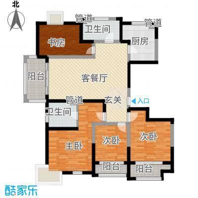 太阳都市花园户型图F户型 4室2厅2卫