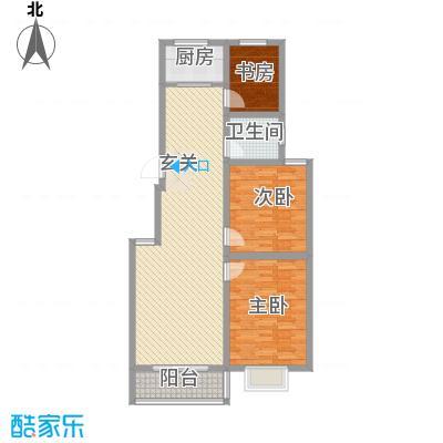 智雅茗苑8#B户型 3室2厅1卫1厨 105.41㎡