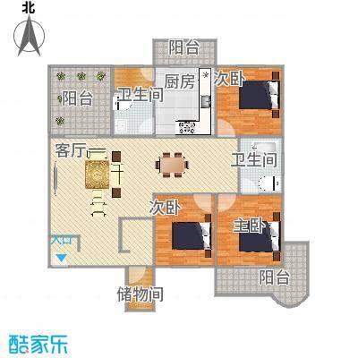 繁荣广场3楼户型图
