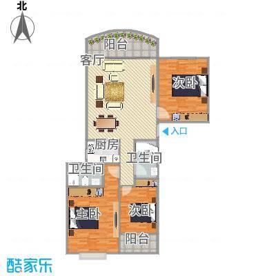 假日香港广场后排三房户型图