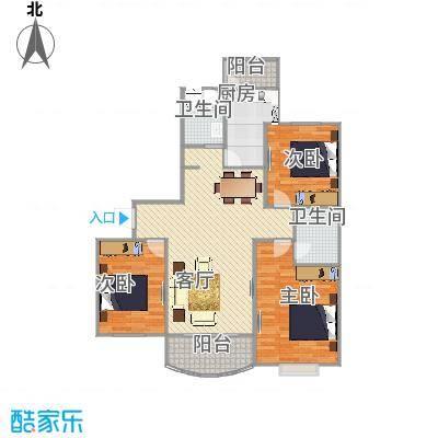 大运盛城  上海杨浦区中山北路99弄1号801室户型图