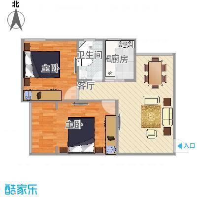 逸仙一村  上海宝山区逸仙路1321弄102号404室户型图