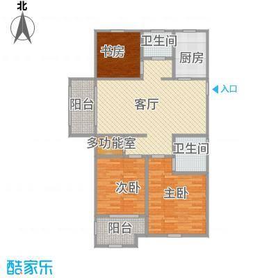 金色蓝庭3居室