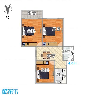 共康三村118号601室户型图