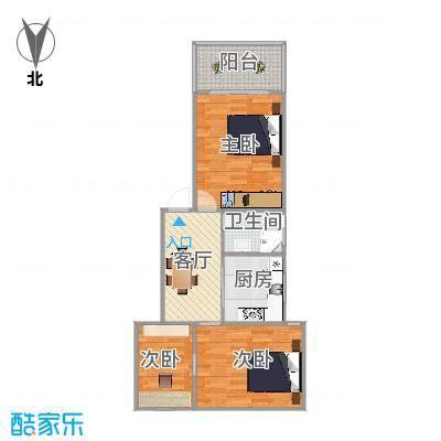 浦东金杨路785弄62号402室金杨九街坊户型图