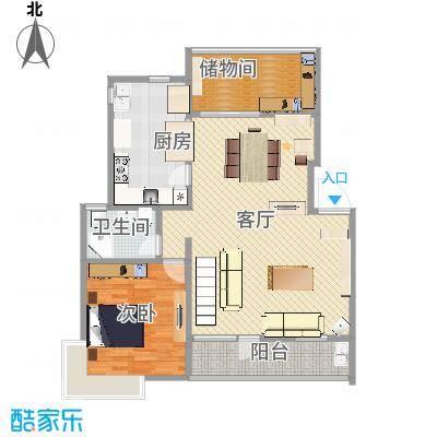 四季新家园 叠加户型图1楼D