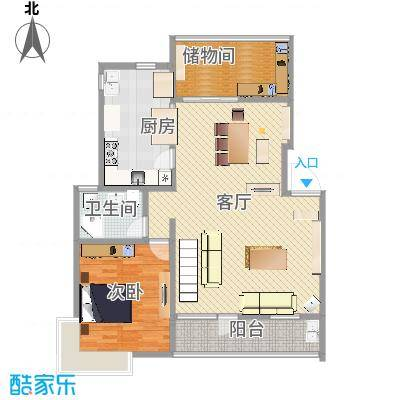 四季新家园 叠加户型图1楼C