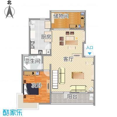 四季新家园 叠加户型图1楼g