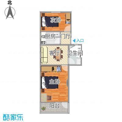 徐汇区龙南五村117号602室户型图