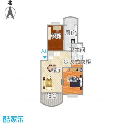 樟树缘公寓   杨浦区军工路89弄10号601室复式下层户型图