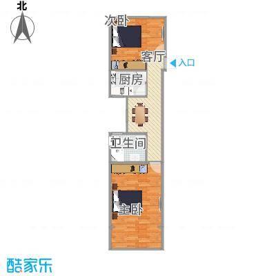 陈家宅小区  上海浦东金桥路351弄 10号604室户型图