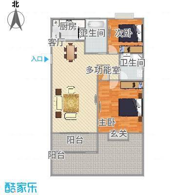 中星巨野公寓  上海浦东沈家弄路900弄 30号101室户型图