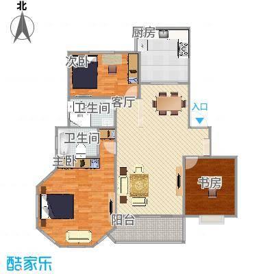江桥三村四街坊  上海嘉定区靖远路510弄11号202室户型图