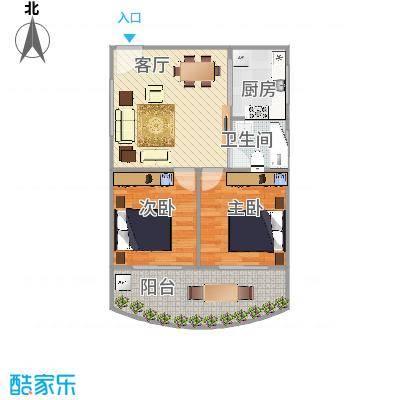 假日香港广场后排03户型图