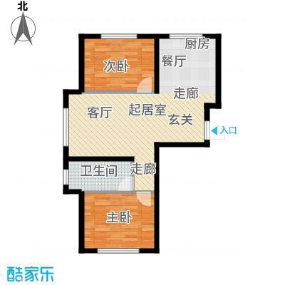 中顺福苑户型2室1卫