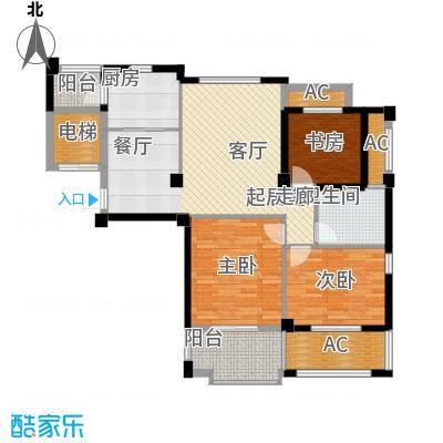 中茵名都108.00㎡三房两厅一卫,建筑面积约108㎡户型3室2厅1卫