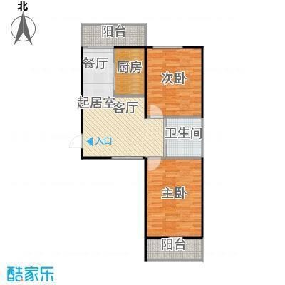 成城蓉桥壹号79.83㎡C4户型图 2室1厅1卫户型2室1厅1卫