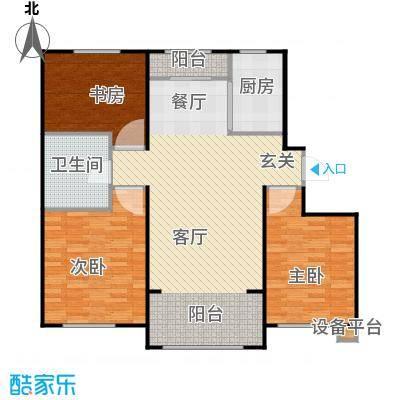 中海雍景熙岸108.00㎡三室两厅一卫 使用面积71平米户型3室2厅1卫