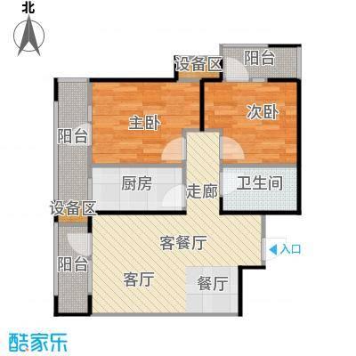抚顺万达广场面积利用率高赠送阳台面积使得整体性价比提高户型2室1厅1卫1厨