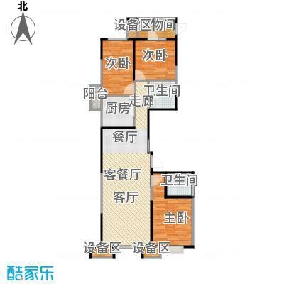 抚顺万达广场3居室南北通透南向主卧私密卫生间客厅双向采光户型3室1厅2卫1厨