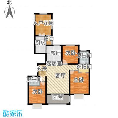 世纪龙庭二期138.00㎡T2户型3室2厅2卫
